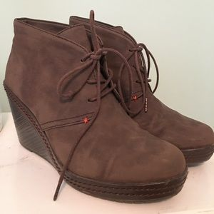 Dr. Schholl's brown leather booties